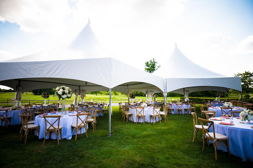 lyon oaks golf tent wedding