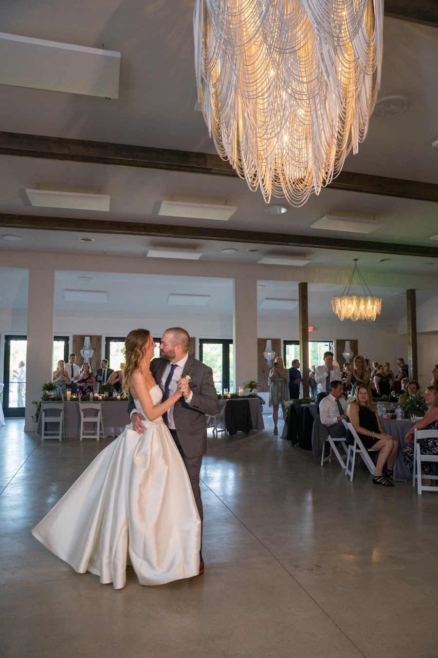 The Oakley Wedding Venue first dance indoors