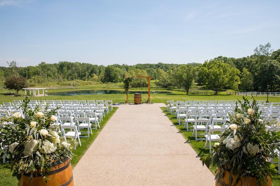 The Oakley Wedding Venue outdoor ceremony