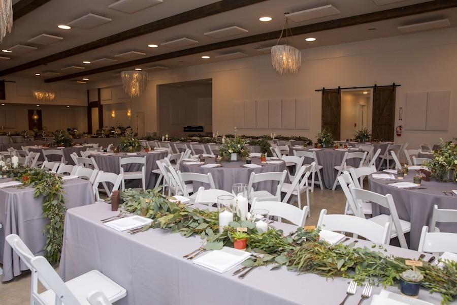 The Oakley Wedding Venue reception hall