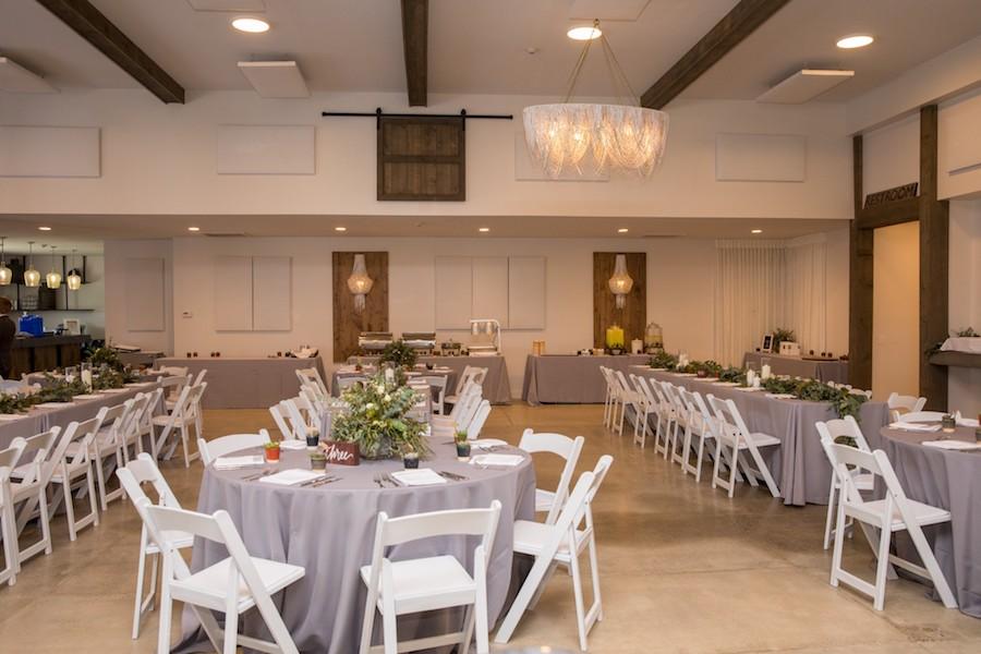 The Oakley Wedding Venue reception table settings