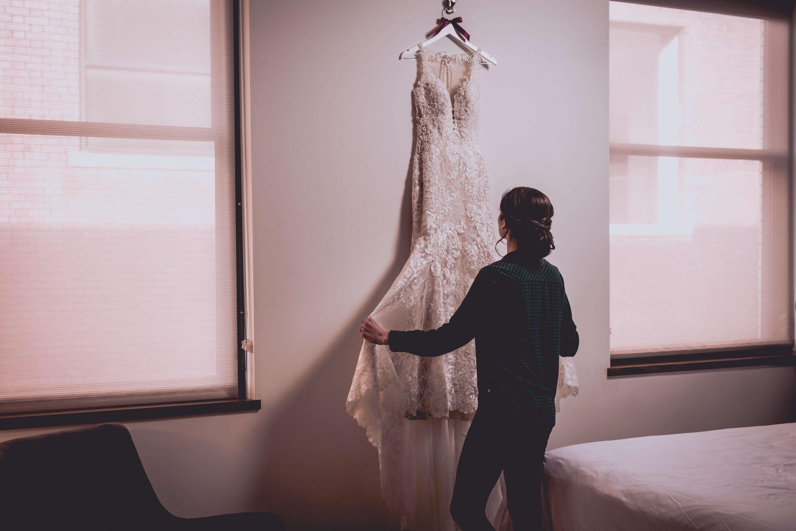 wedding dress Lafrate wedding