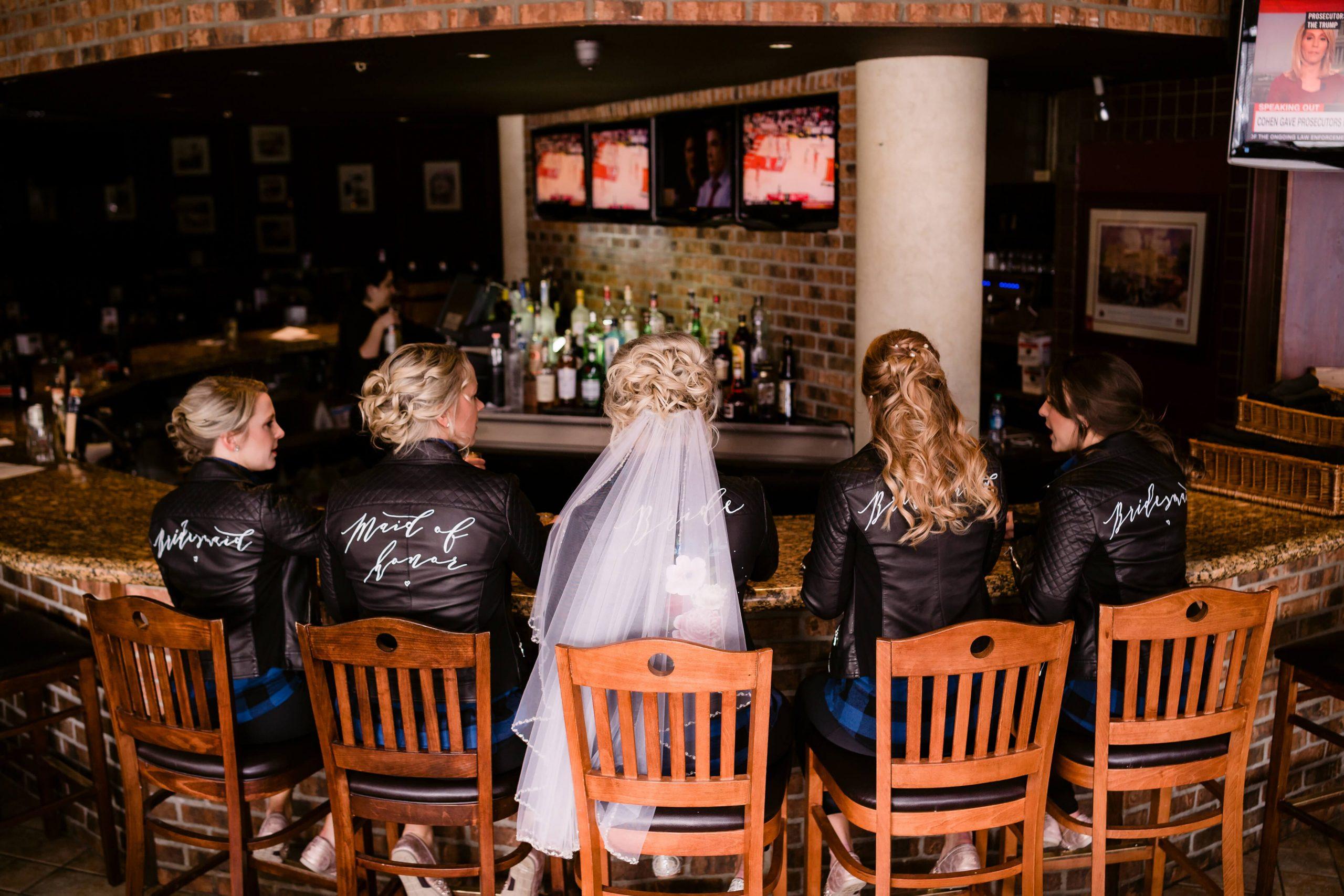 bridal party bates wedding