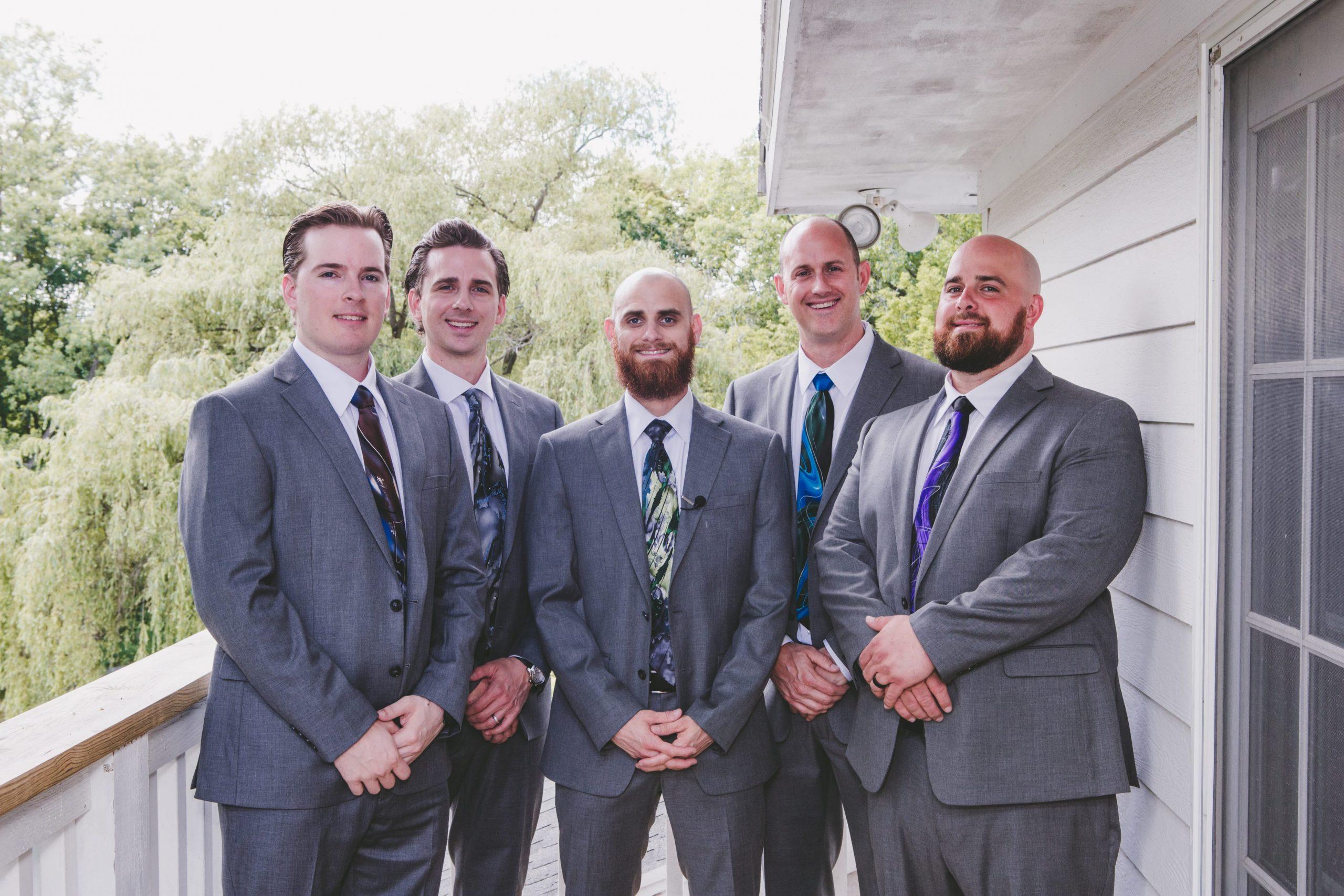 groomsmen pre-ceremony