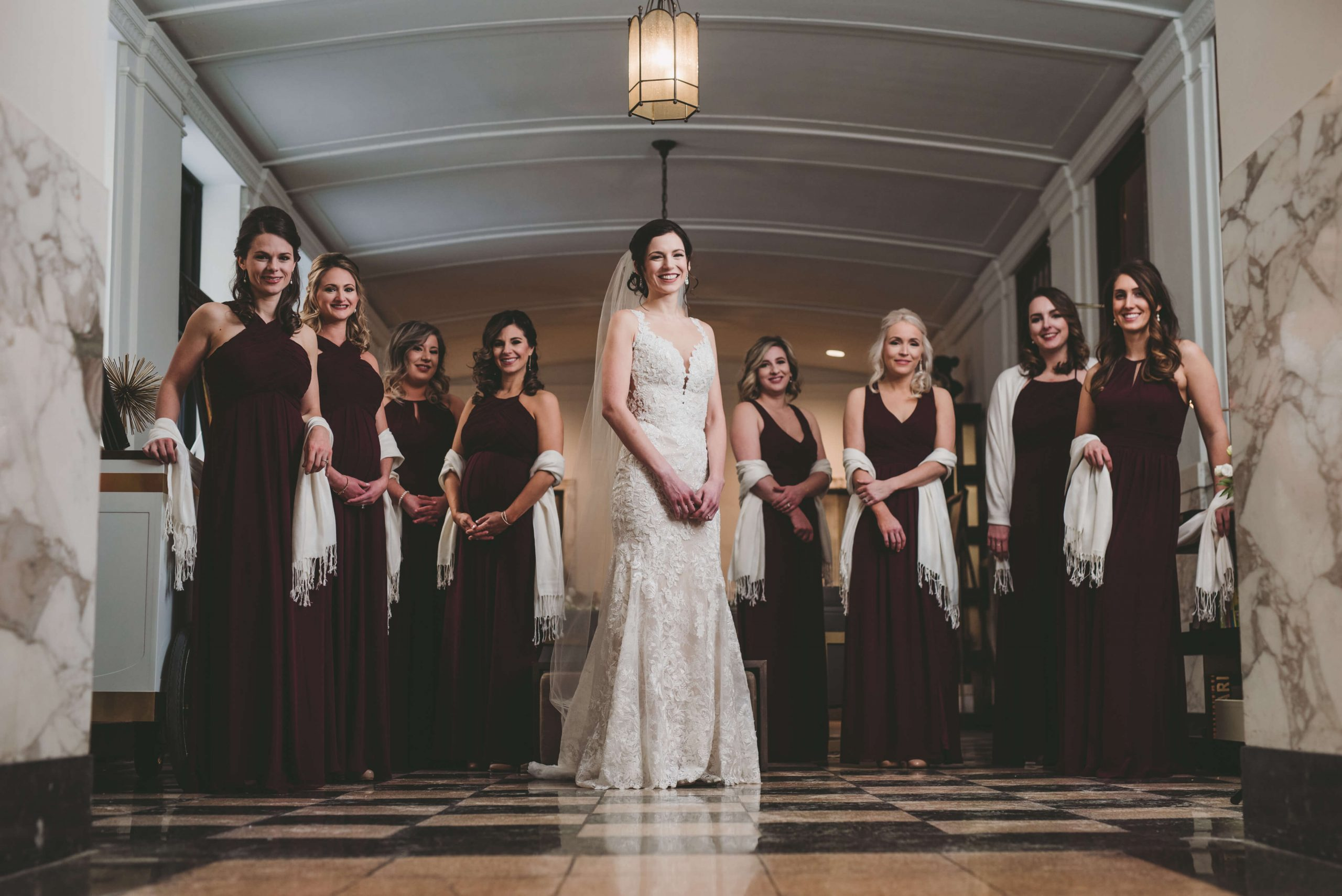 bridesmaids Lafrate wedding