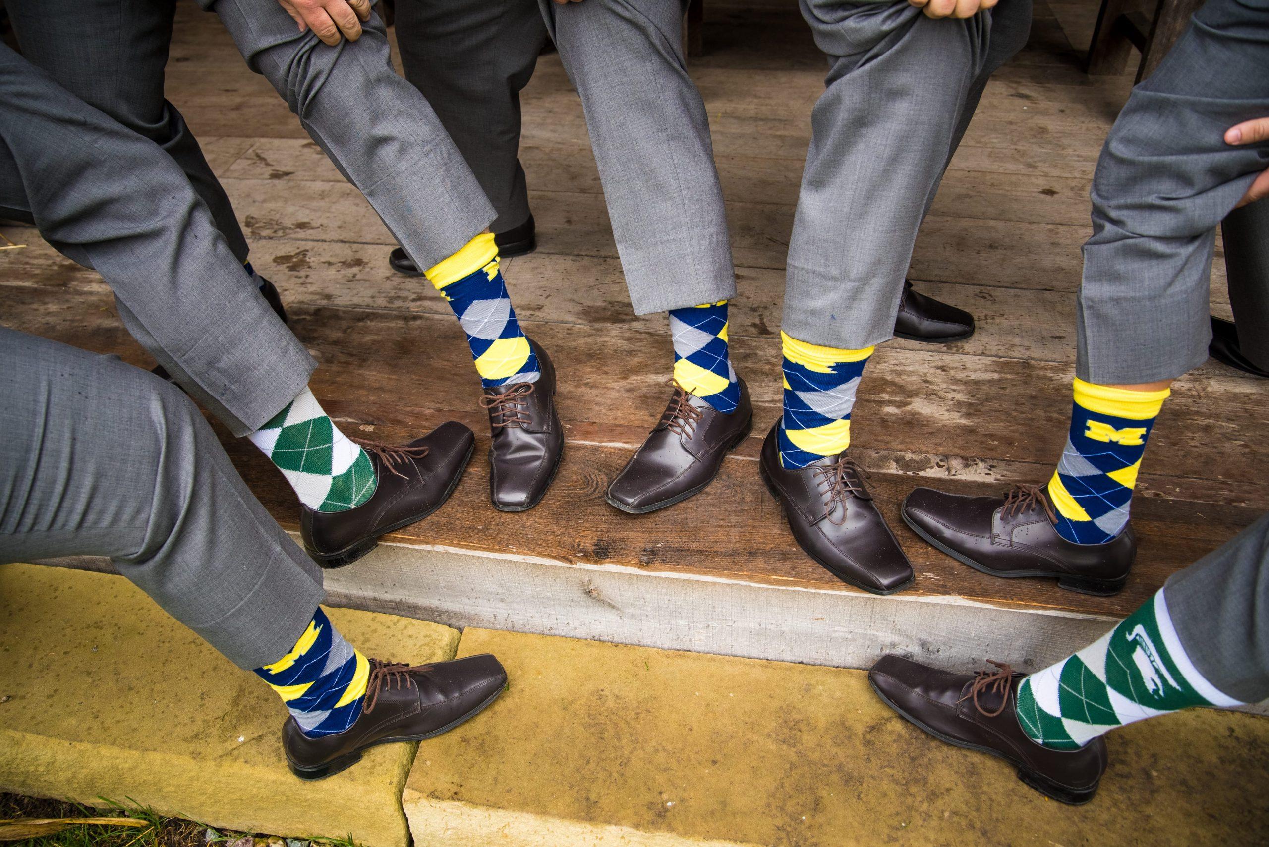 Michigan Michigan state wedding socks
