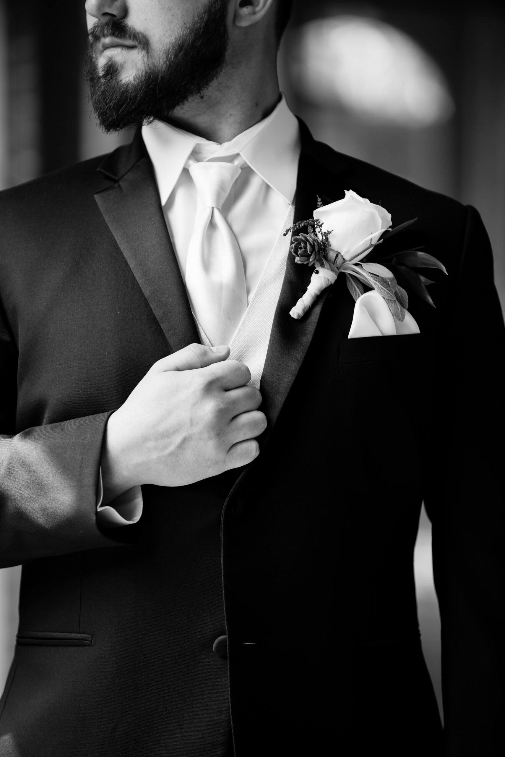 groom's menswear details