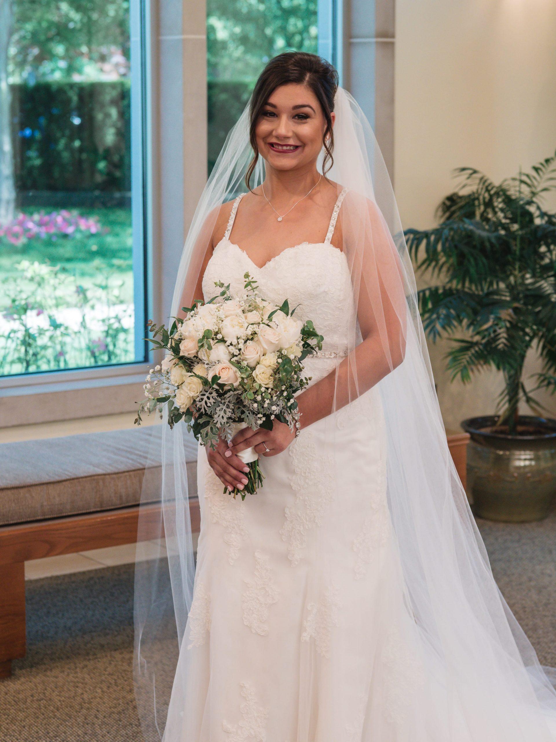 bride before wedding ceremony