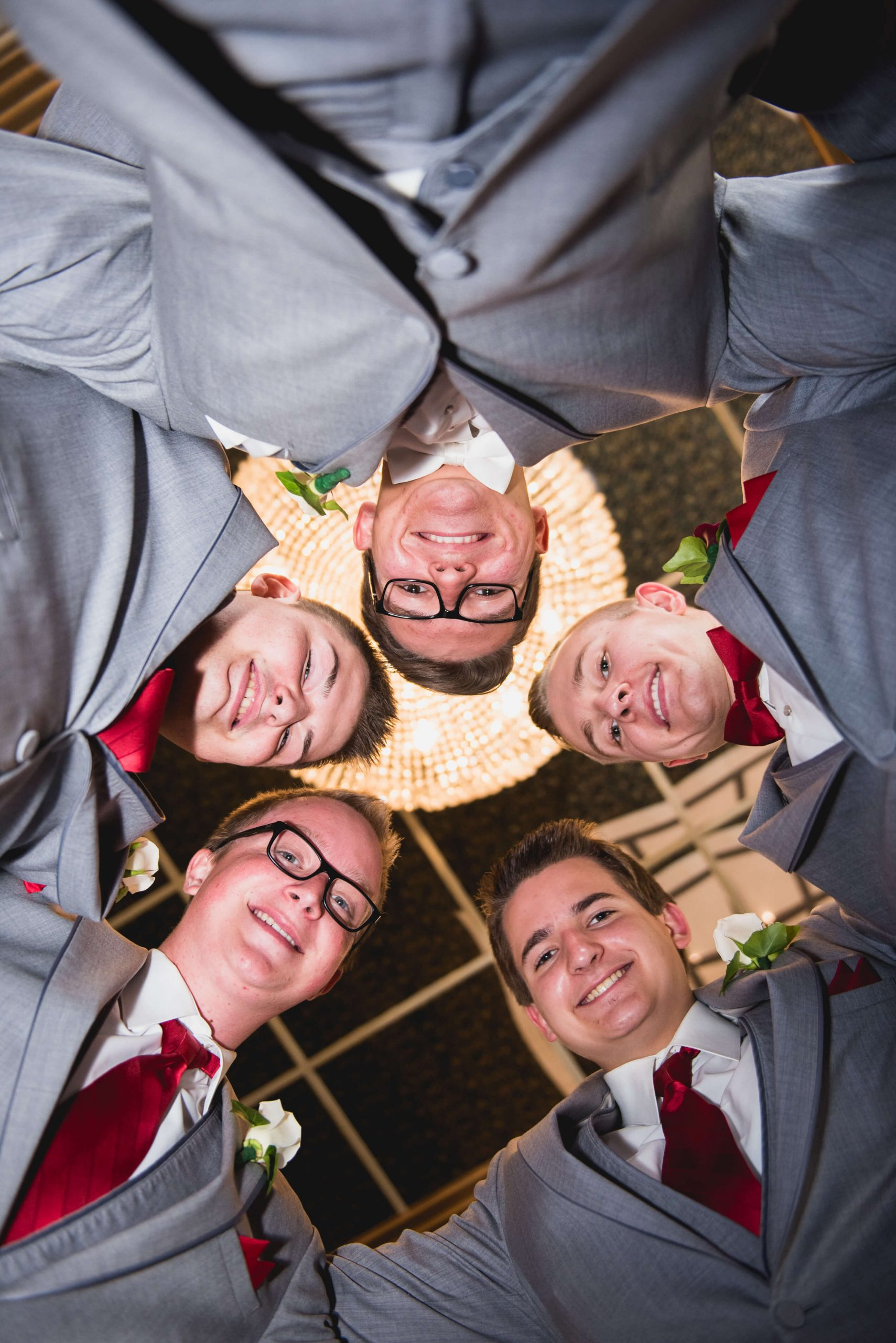 pre ceremony groom with groomsmen