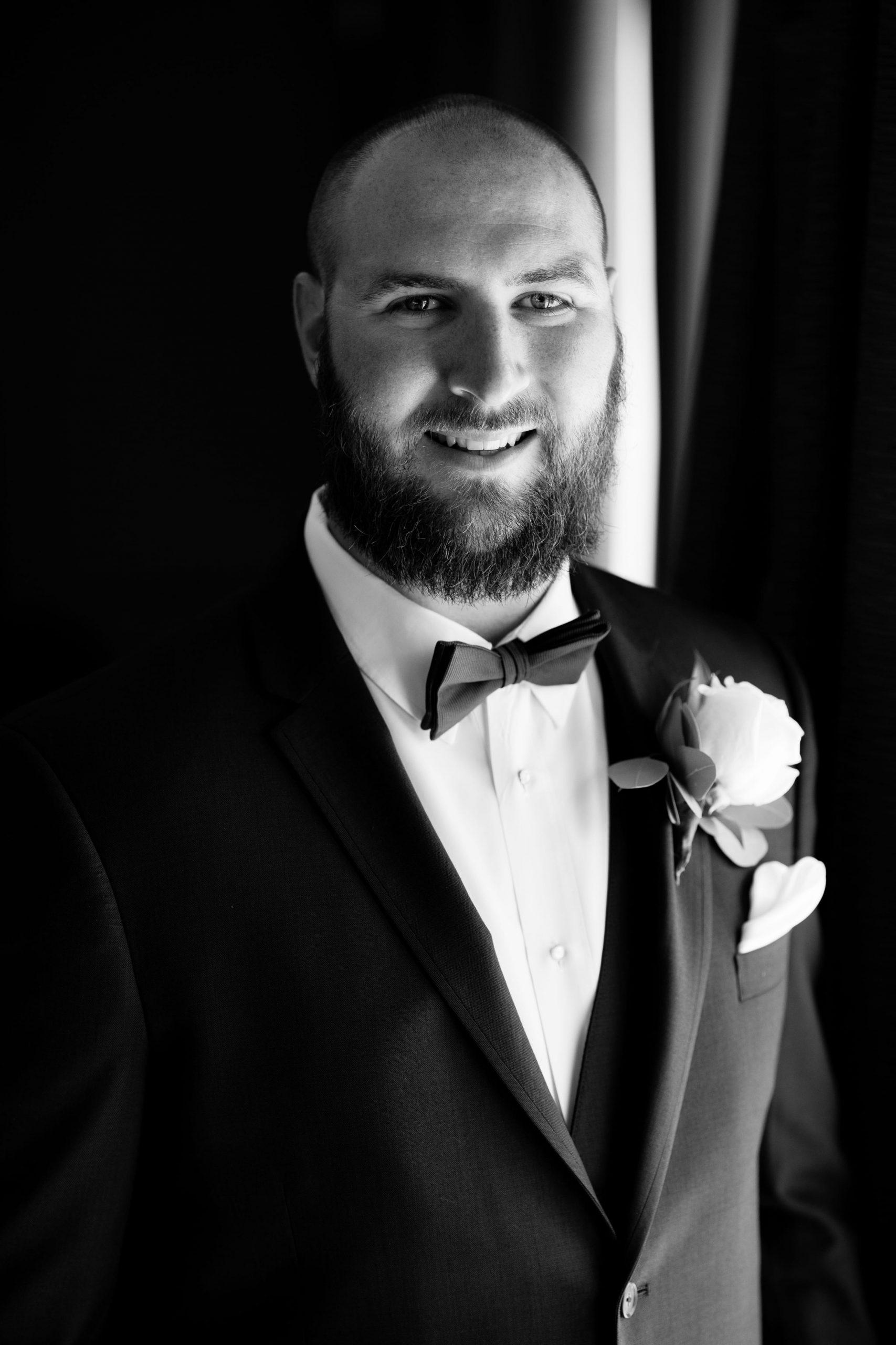 groom portrait pre-ceremony