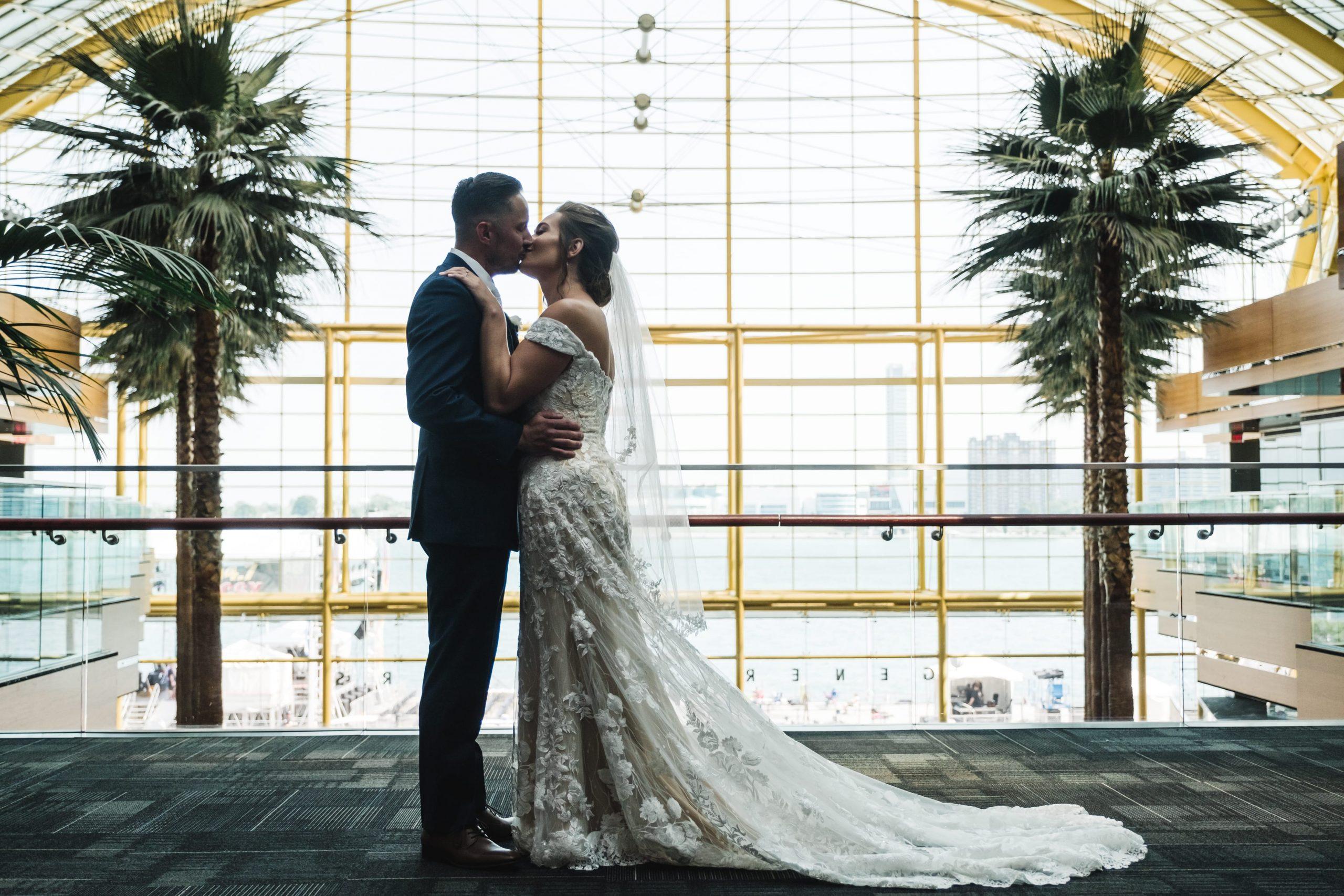 bride and groom artistic romantic shot