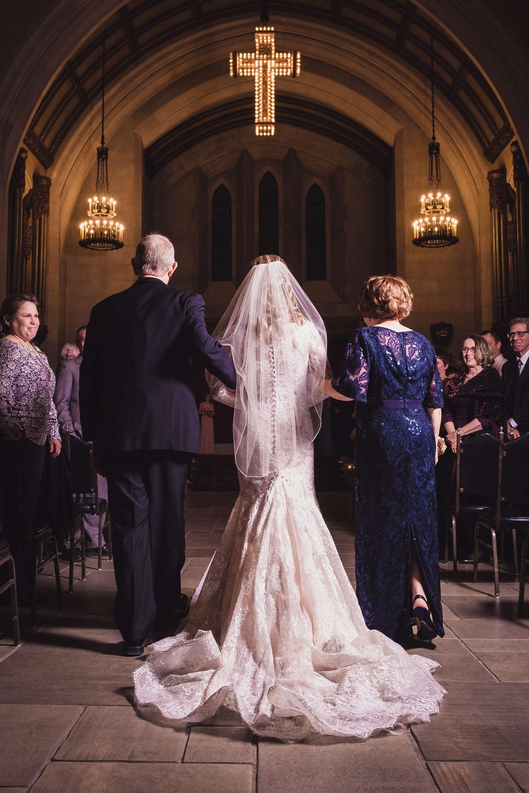 walk down the aisle wedding ceremony