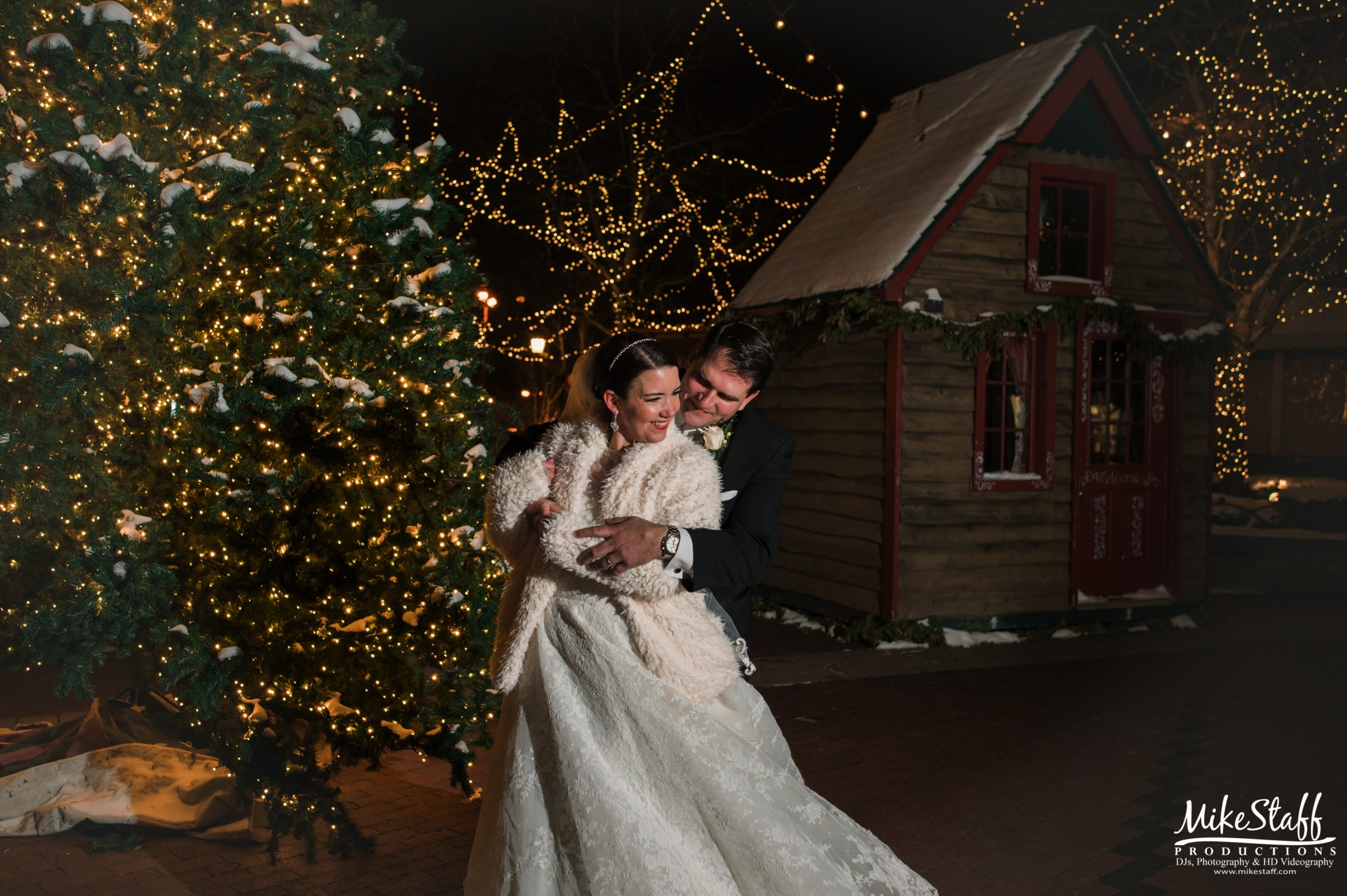 winter wedding at fox hills