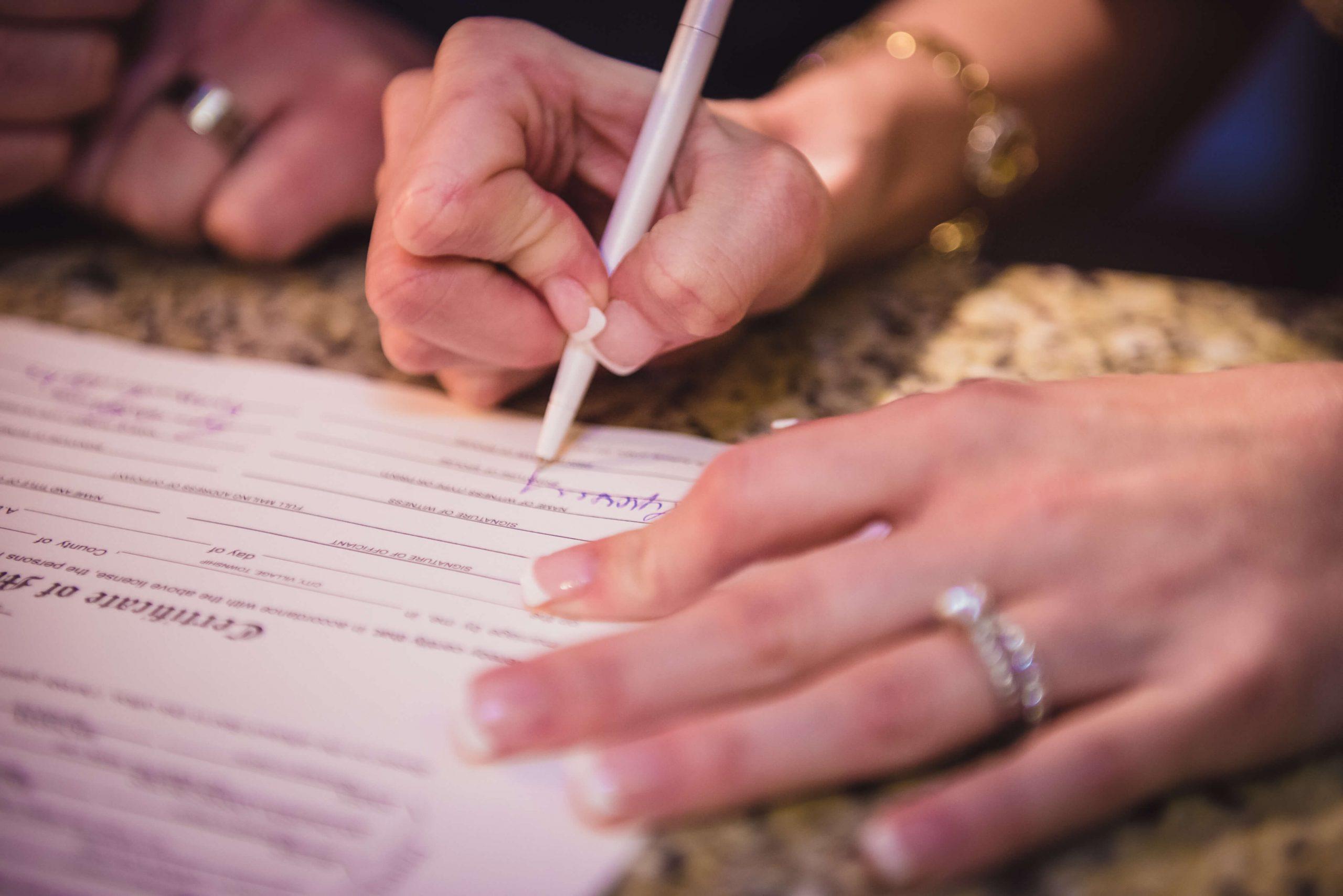 marriage license bates wedding