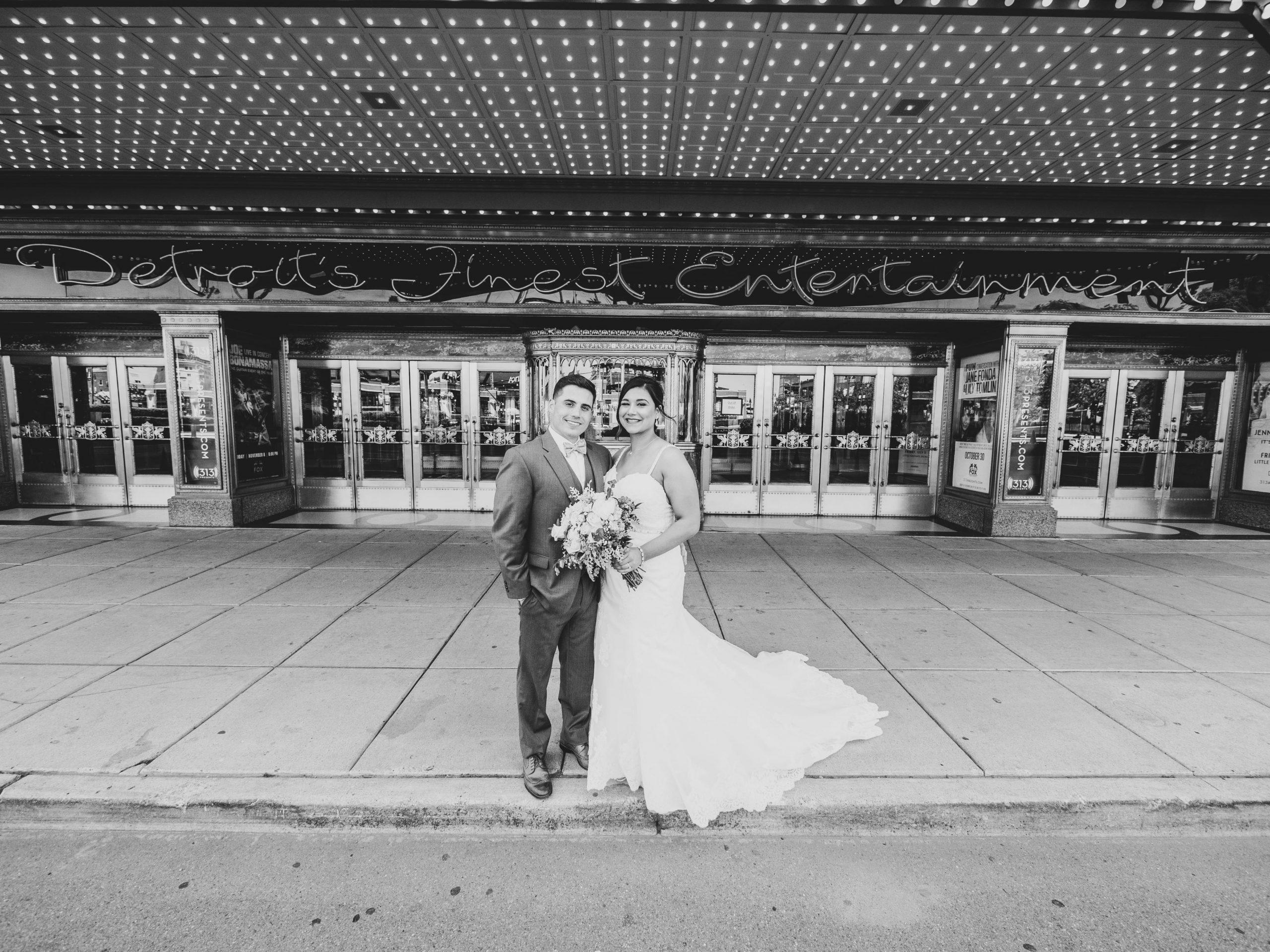 Lauren and Brandon wedding photography fox theatre