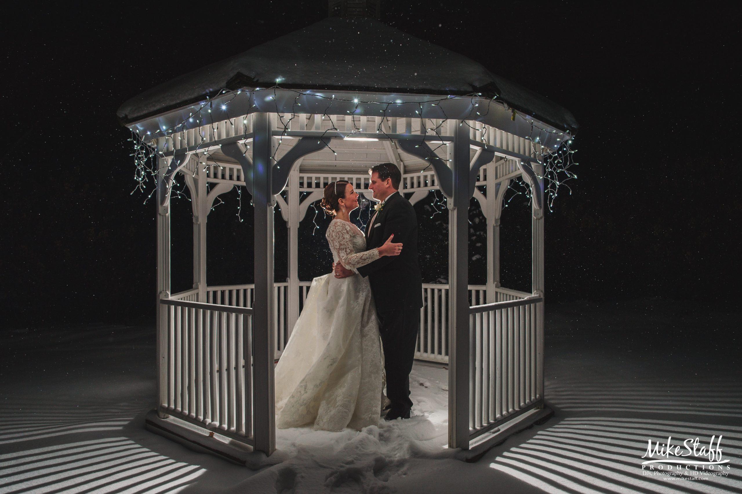 winter wedding pavilion at fox hills