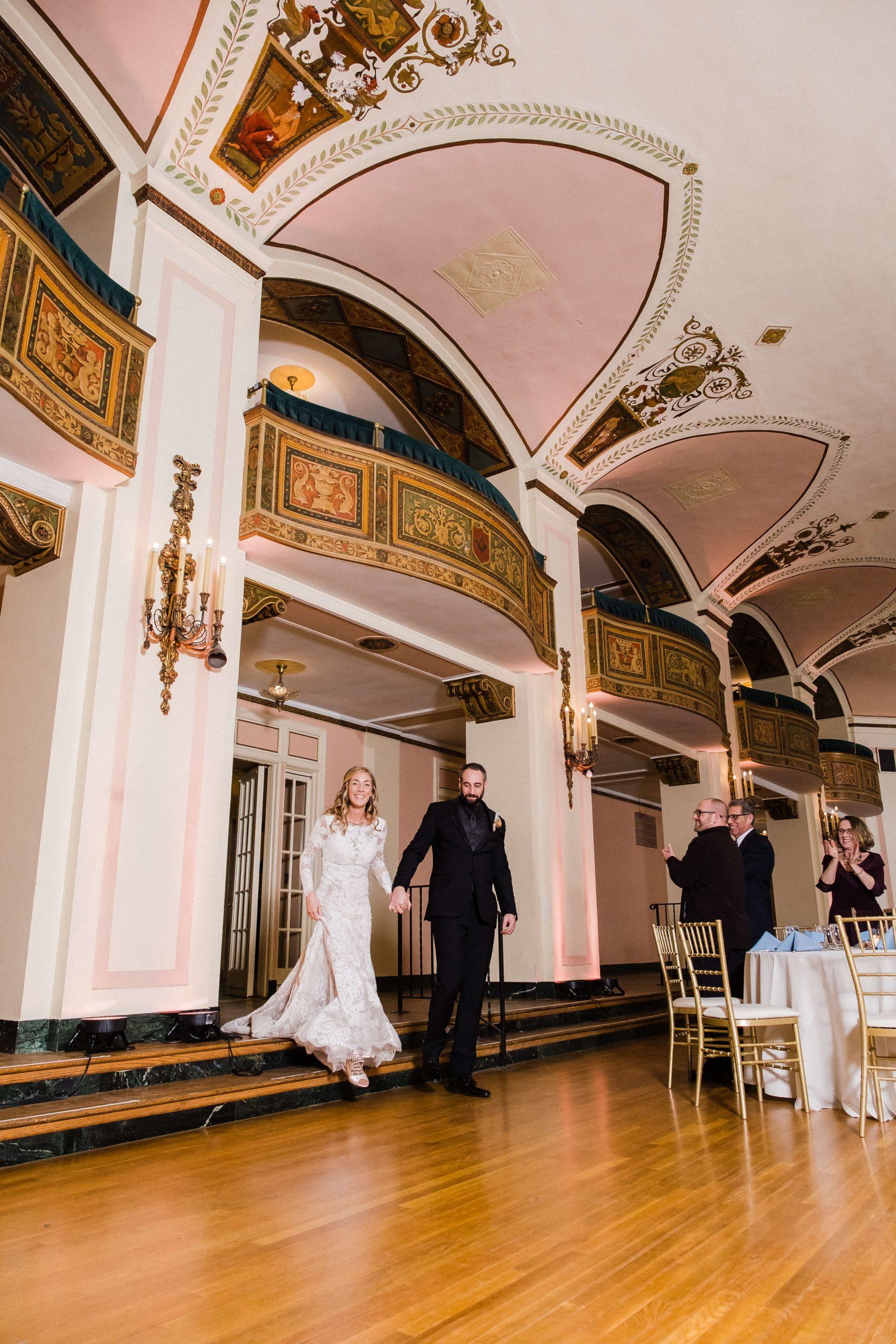 grand entrance wedding reception