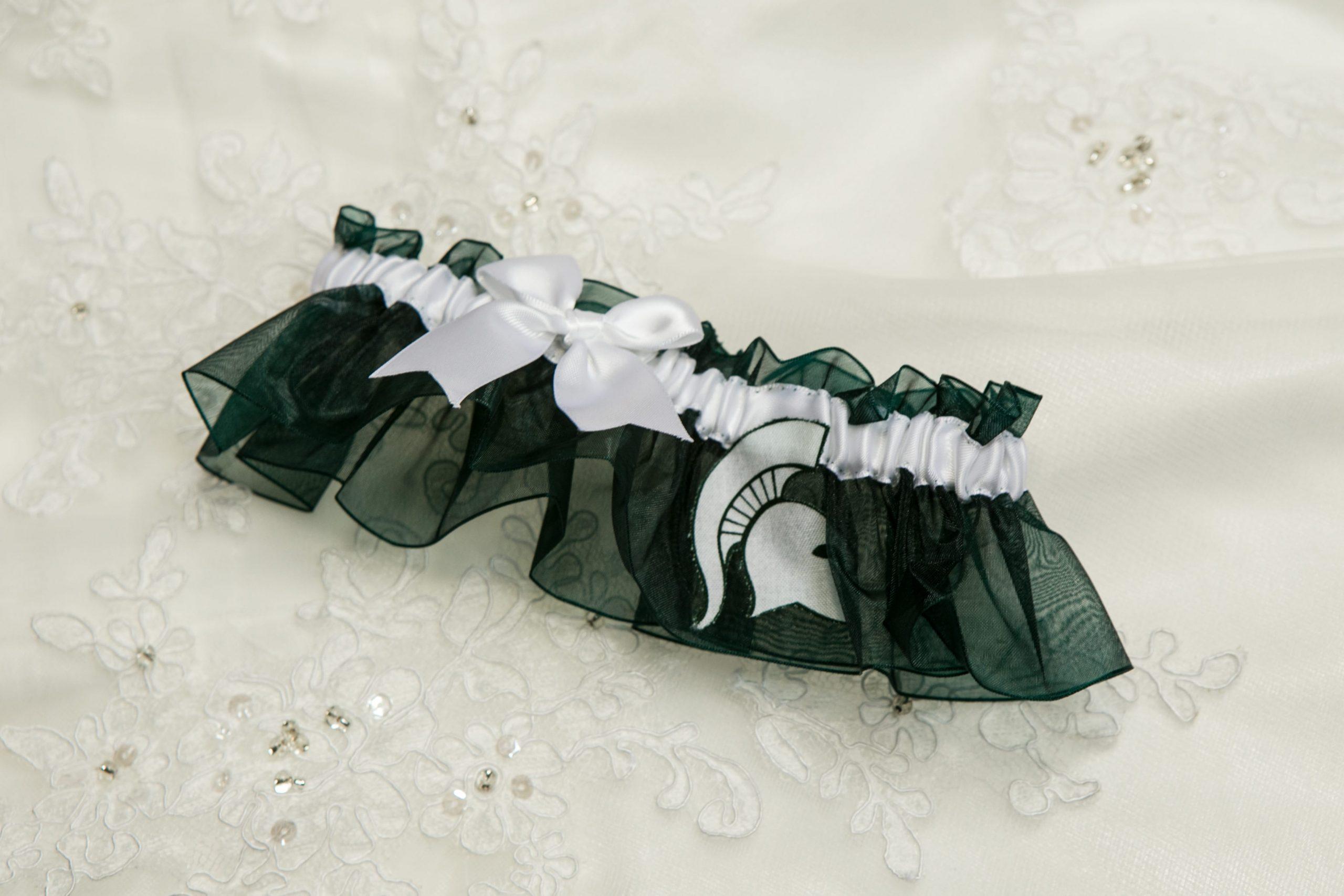 Michigan State bridal garter