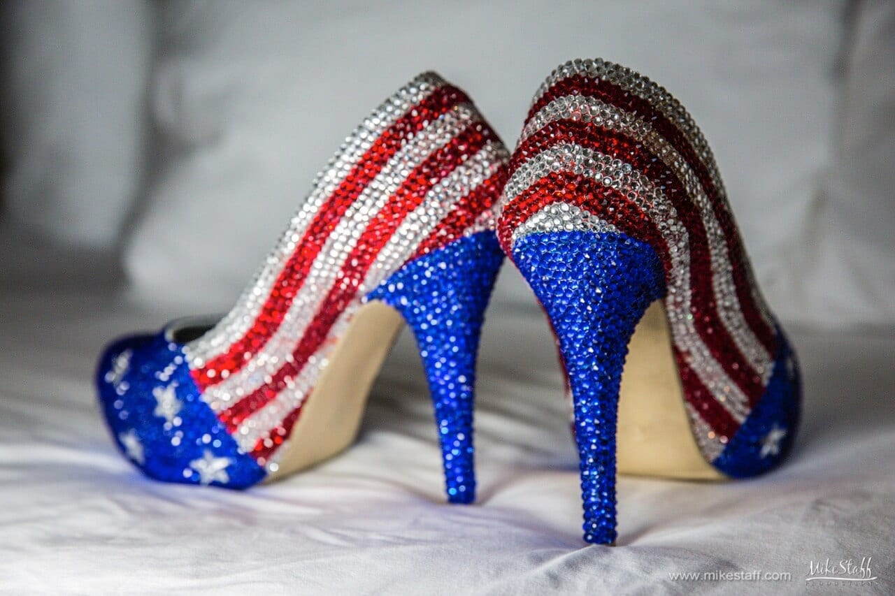 american flag wedding shoes