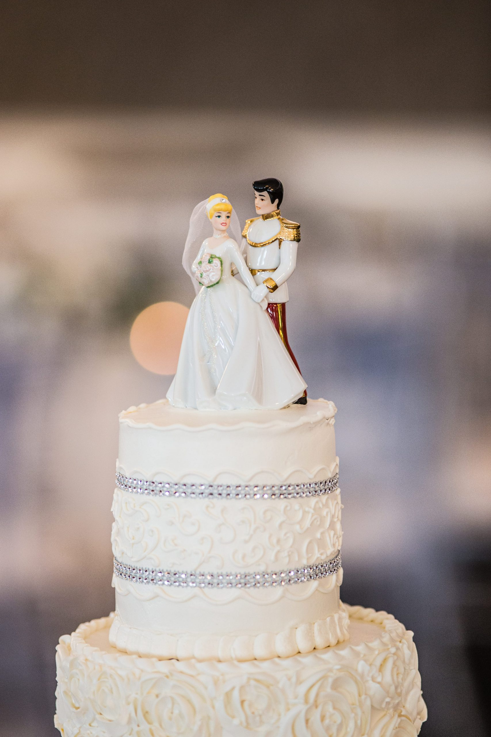 cinderella & prince charming wedding cake topper