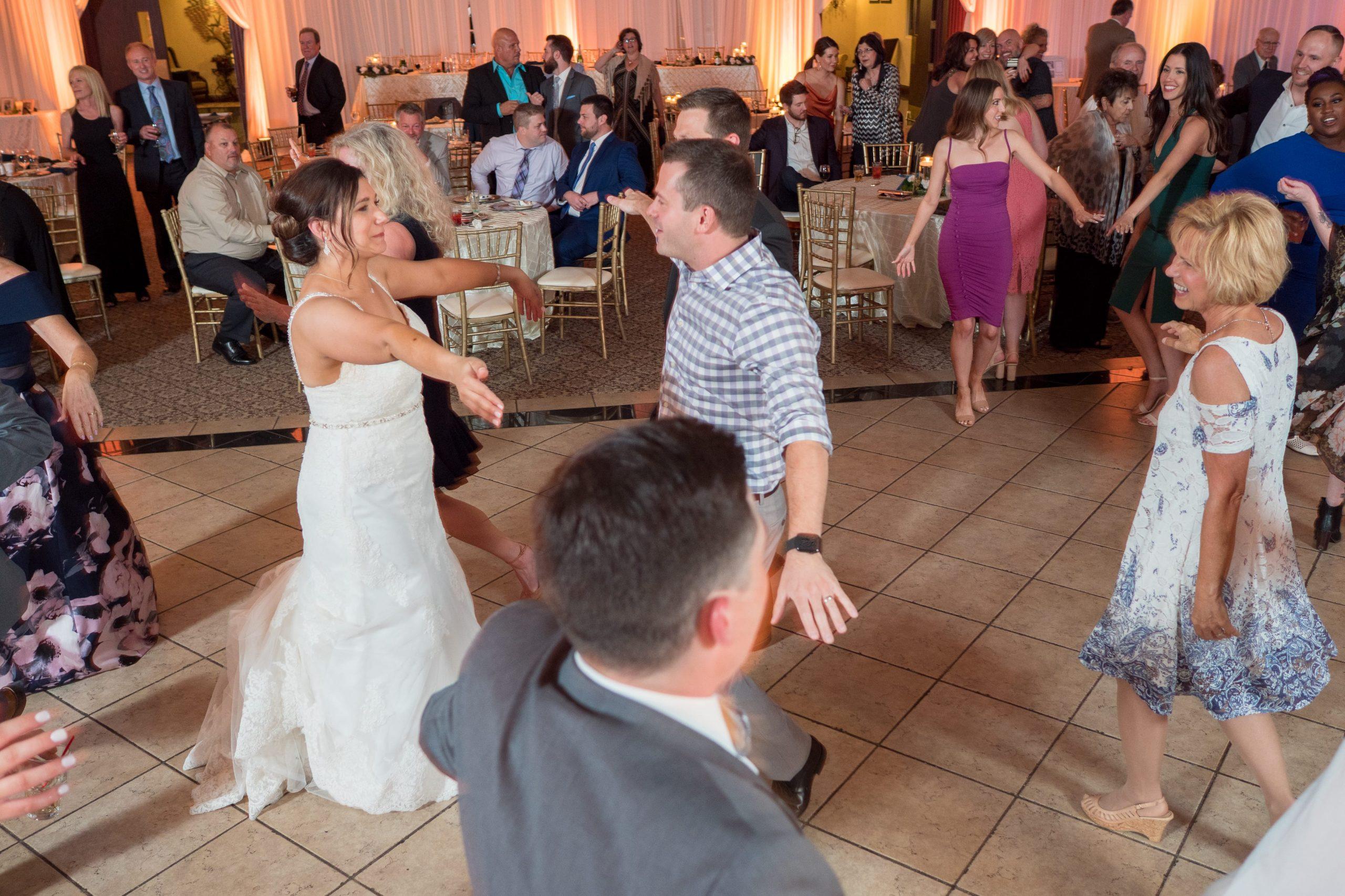 wedding dj packed dance floor