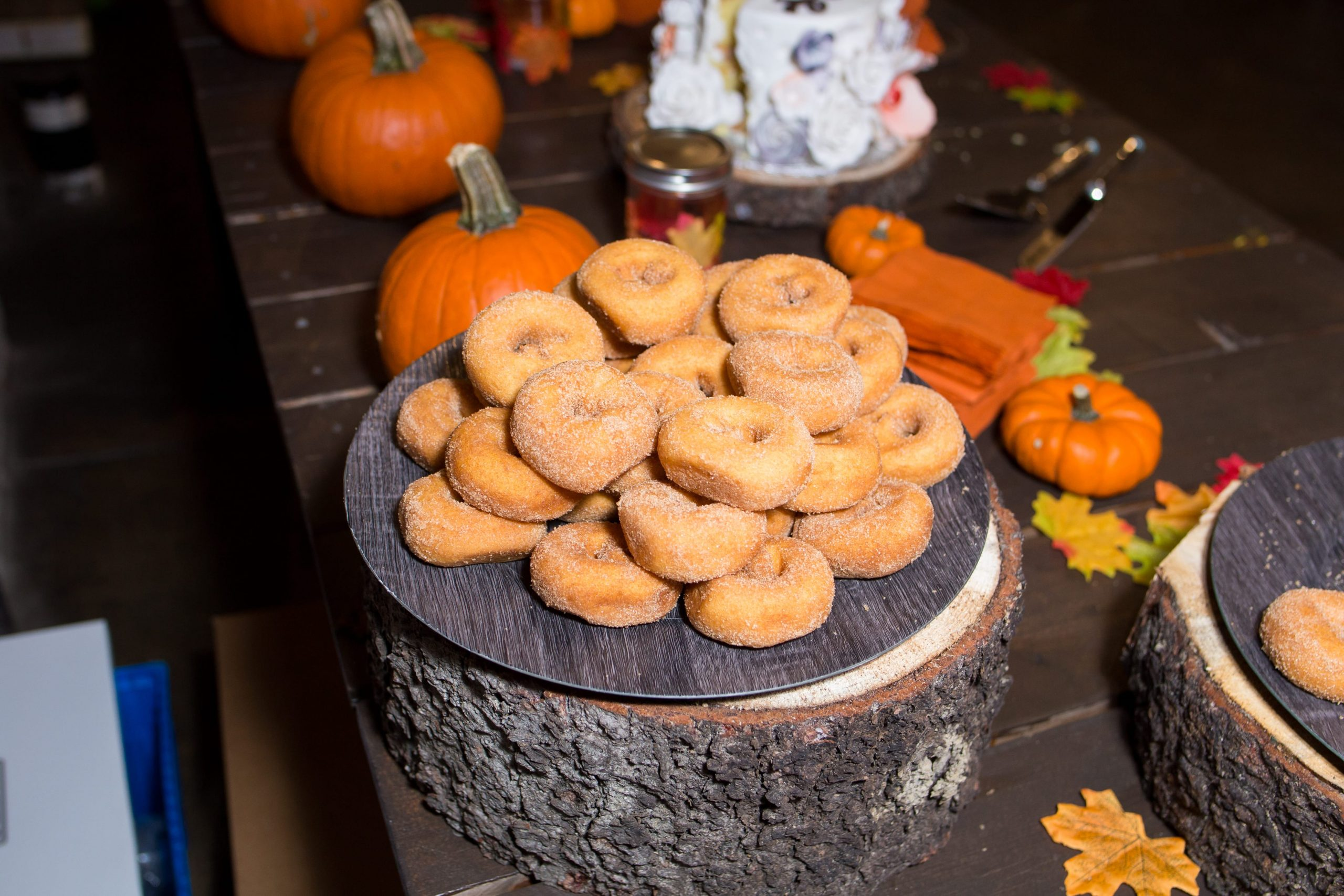 late night snack cinnamon donuts