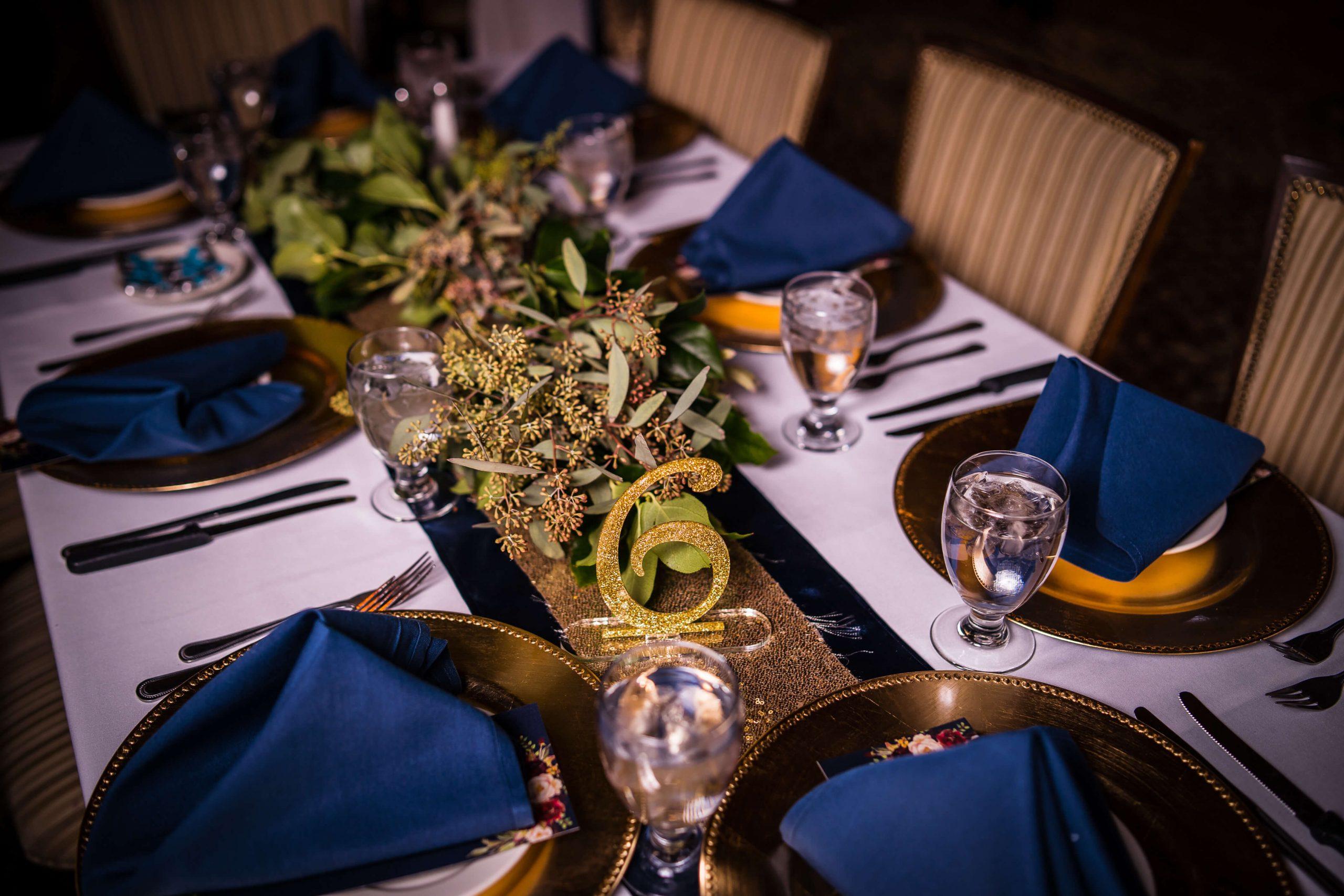 reception decor bates wedding