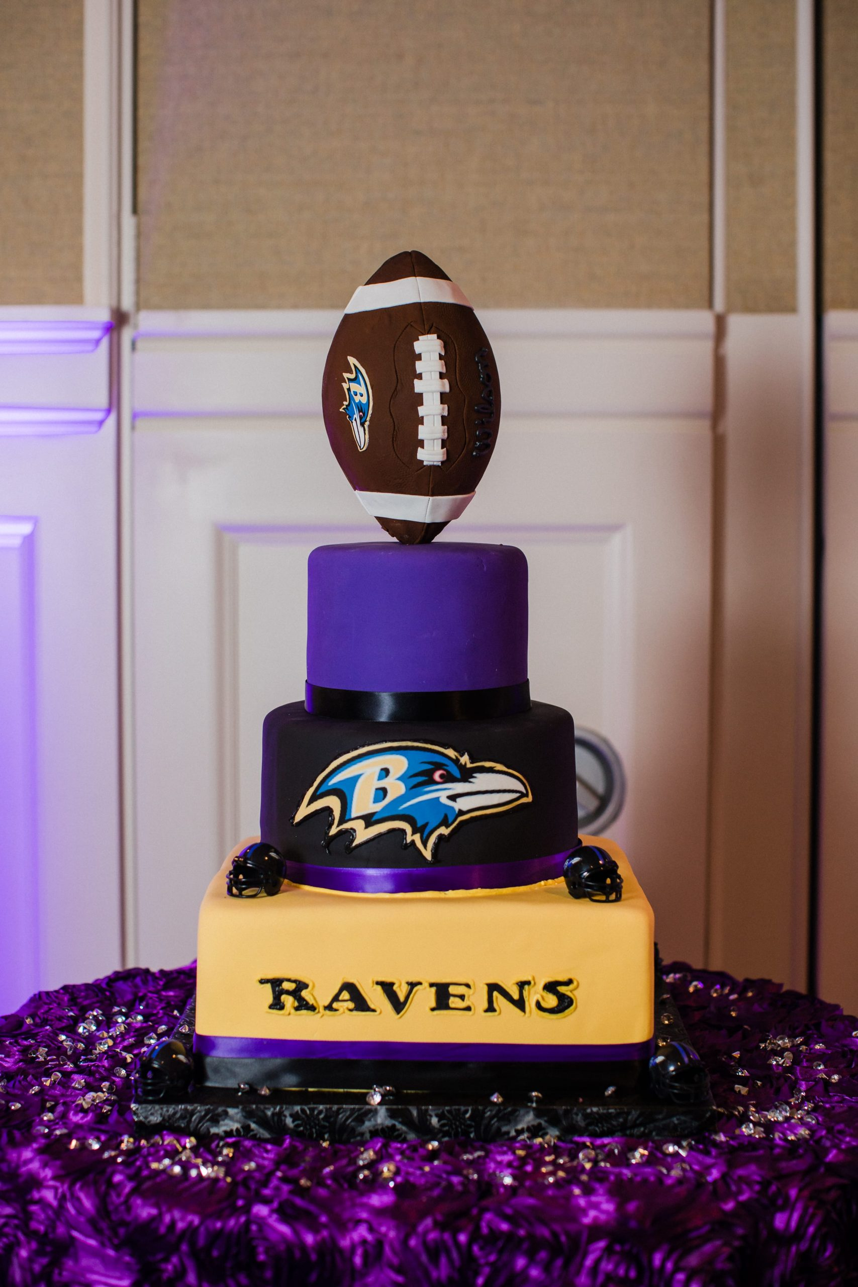 Ravens football groom's cake