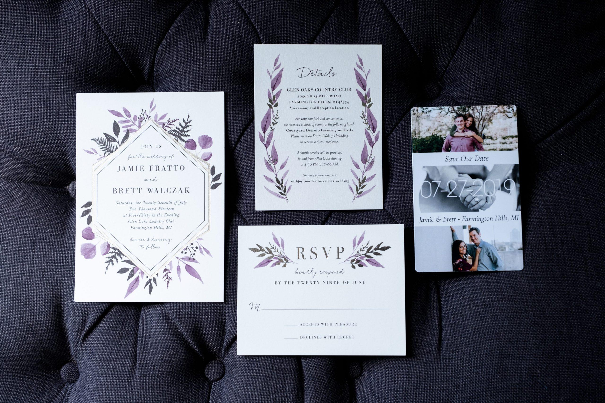 wedding stationary flatlay
