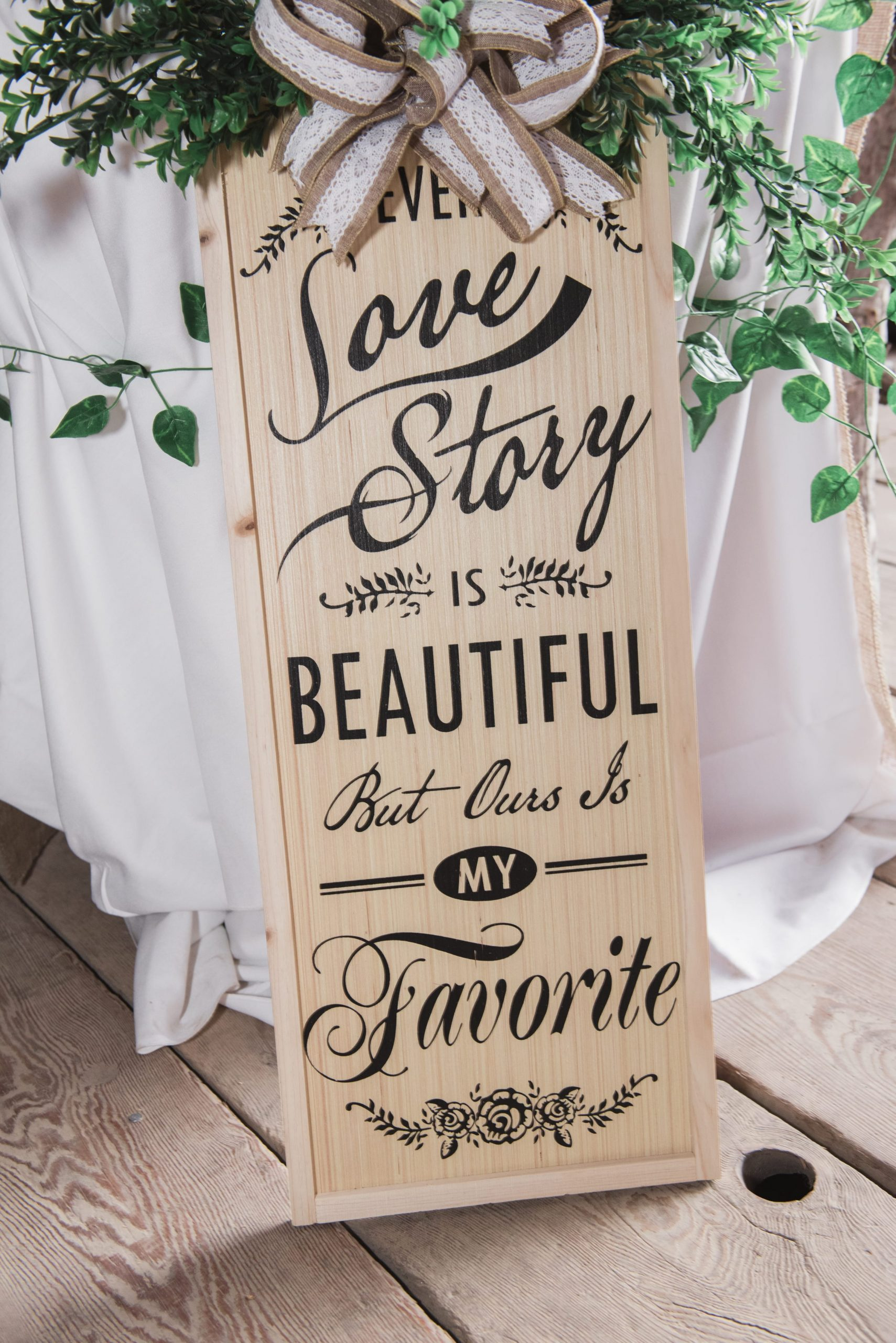 wedding sign decoration