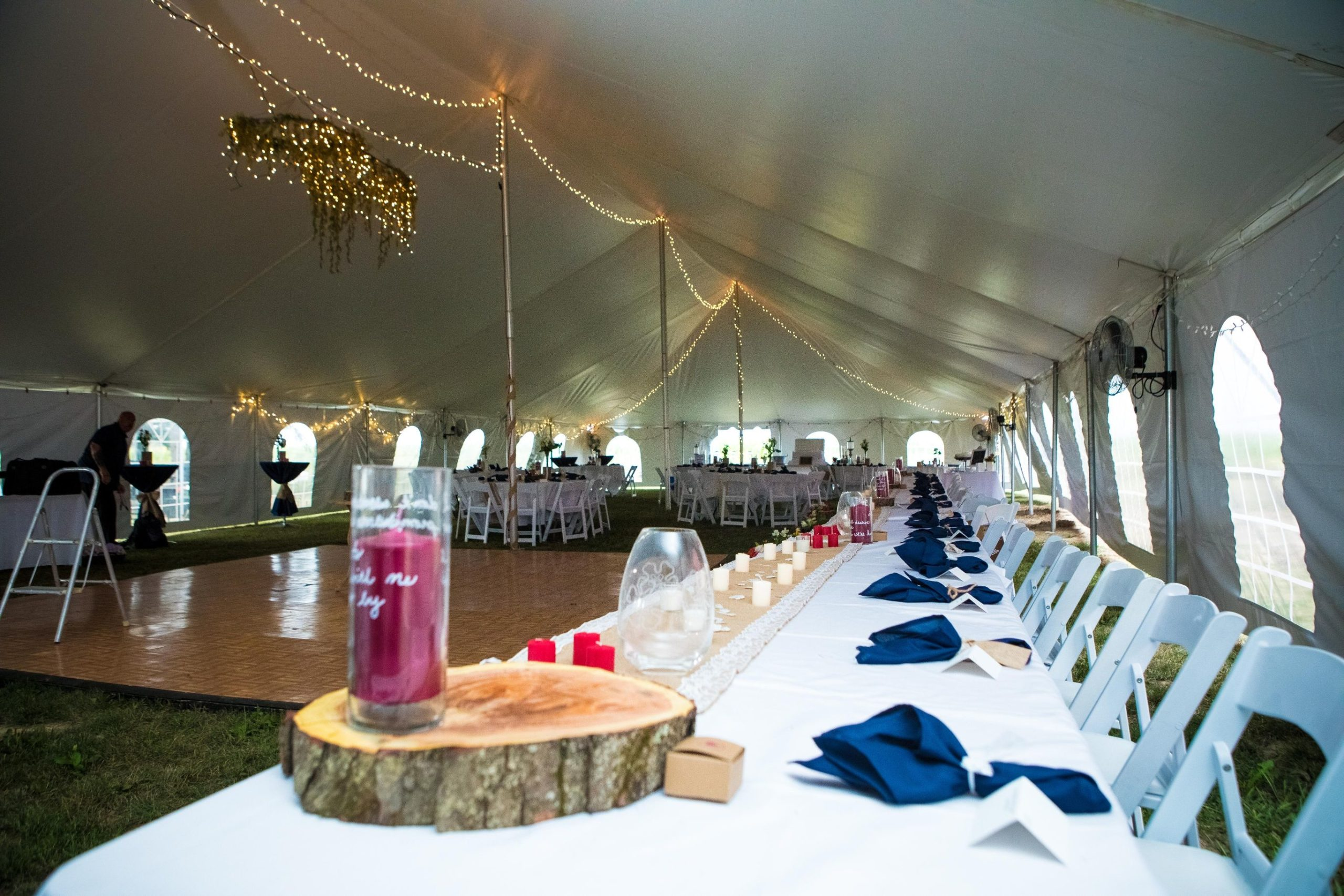 Backyard tent wedding scaled 1