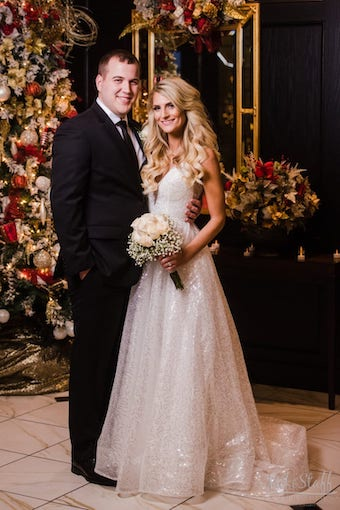 Christmas Wedding Portrait