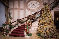 Christmas tree at wedding venue