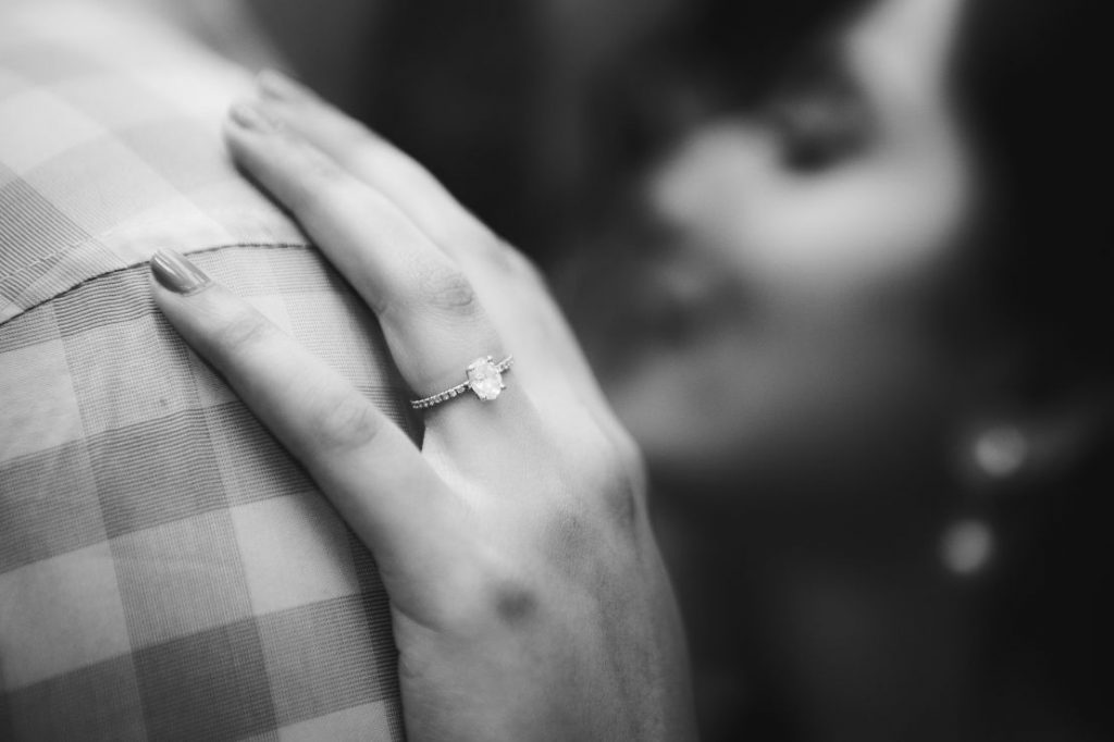 Engagement Shoot Showing Ring