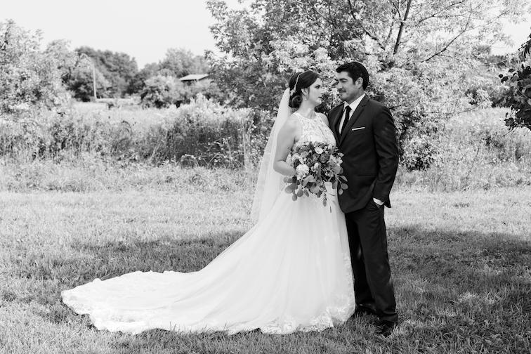 Julie and Eric black and white romantics