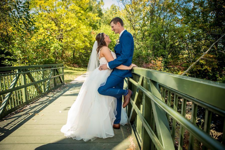 Lindsay and Logan romantics on bridge