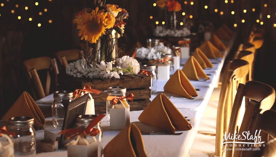 Place settings reception