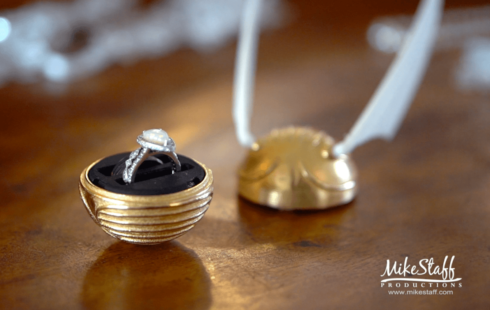 golden snitch wedding ring box