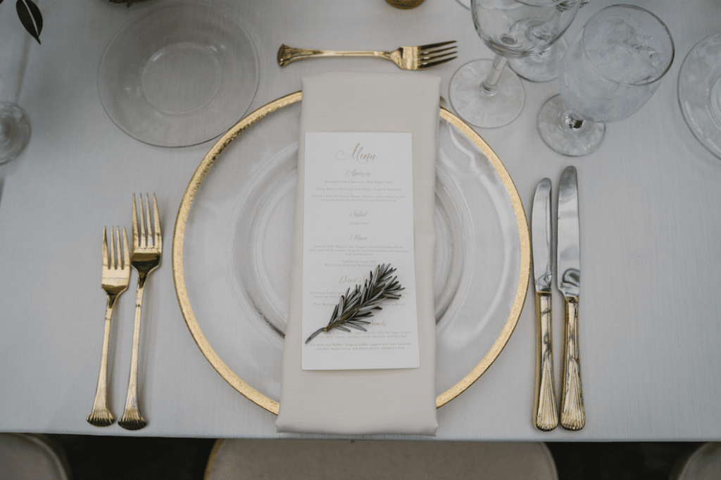 Hunting Themed Wedding place setting