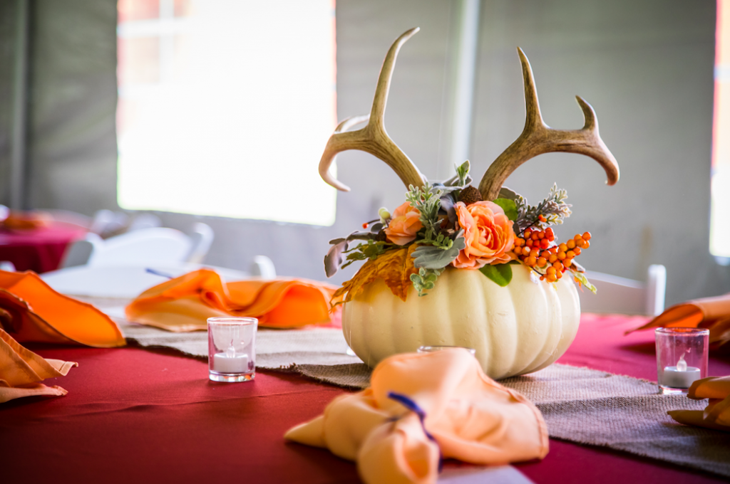 antlers Hunting Themed Wedding centerpiece