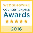 WeddingWire Couples' Choice Award 2016
