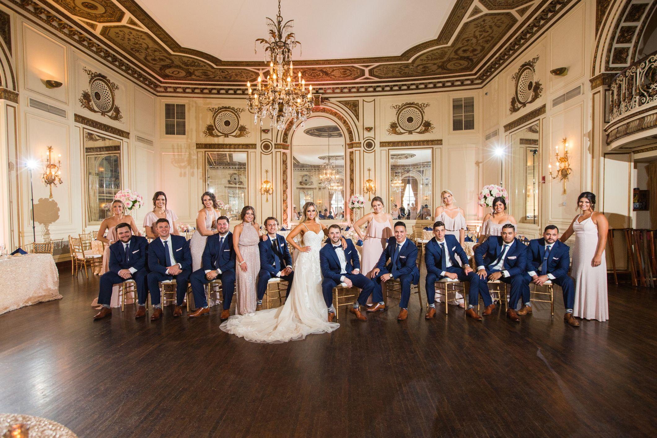 bridal party at colony club