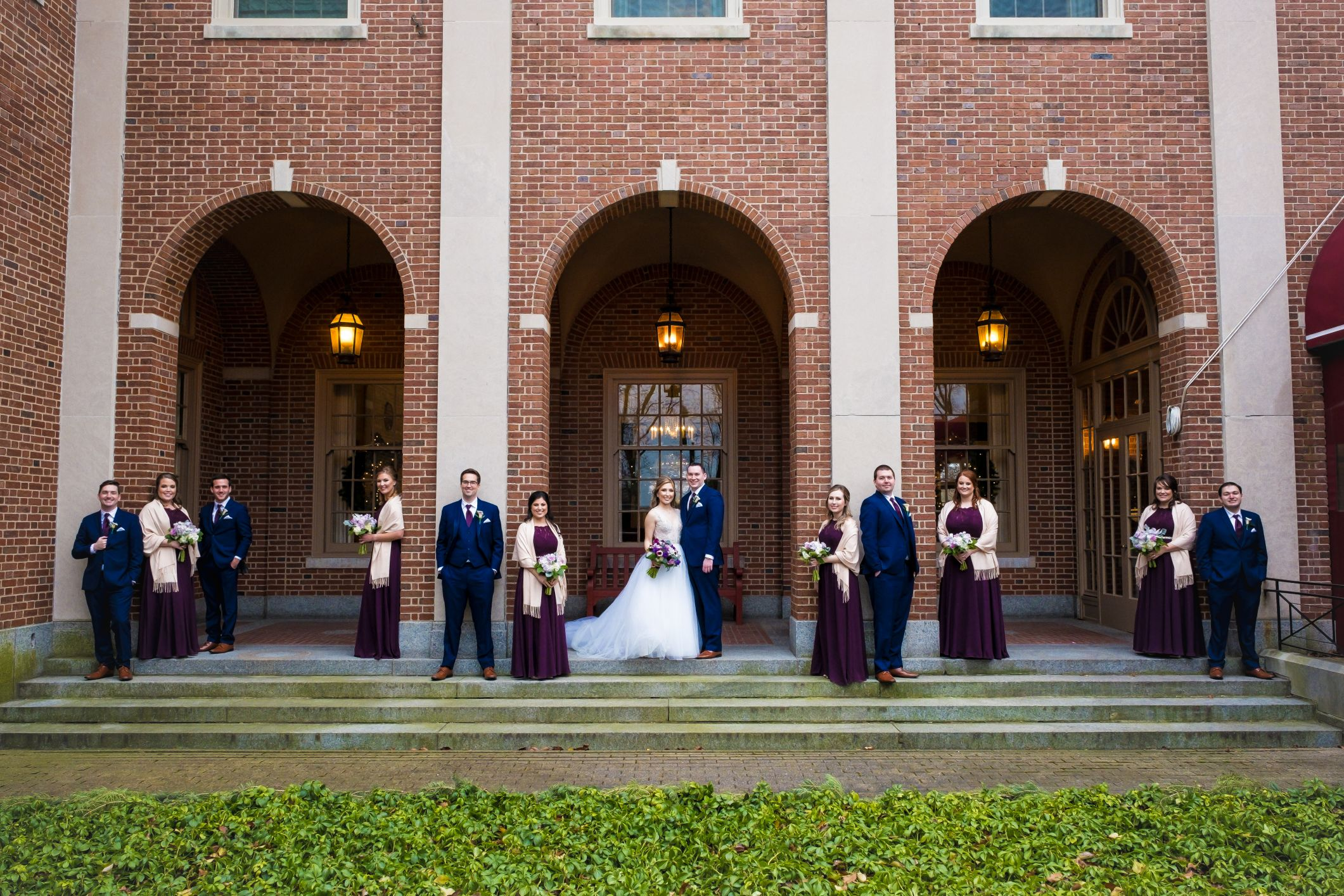 bridal party at dearborn inn