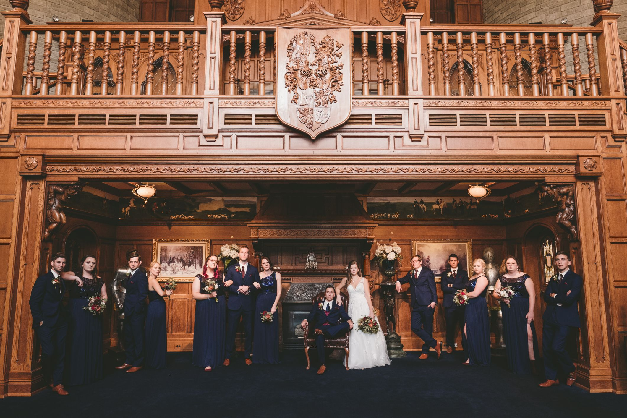 bridal party at kings court