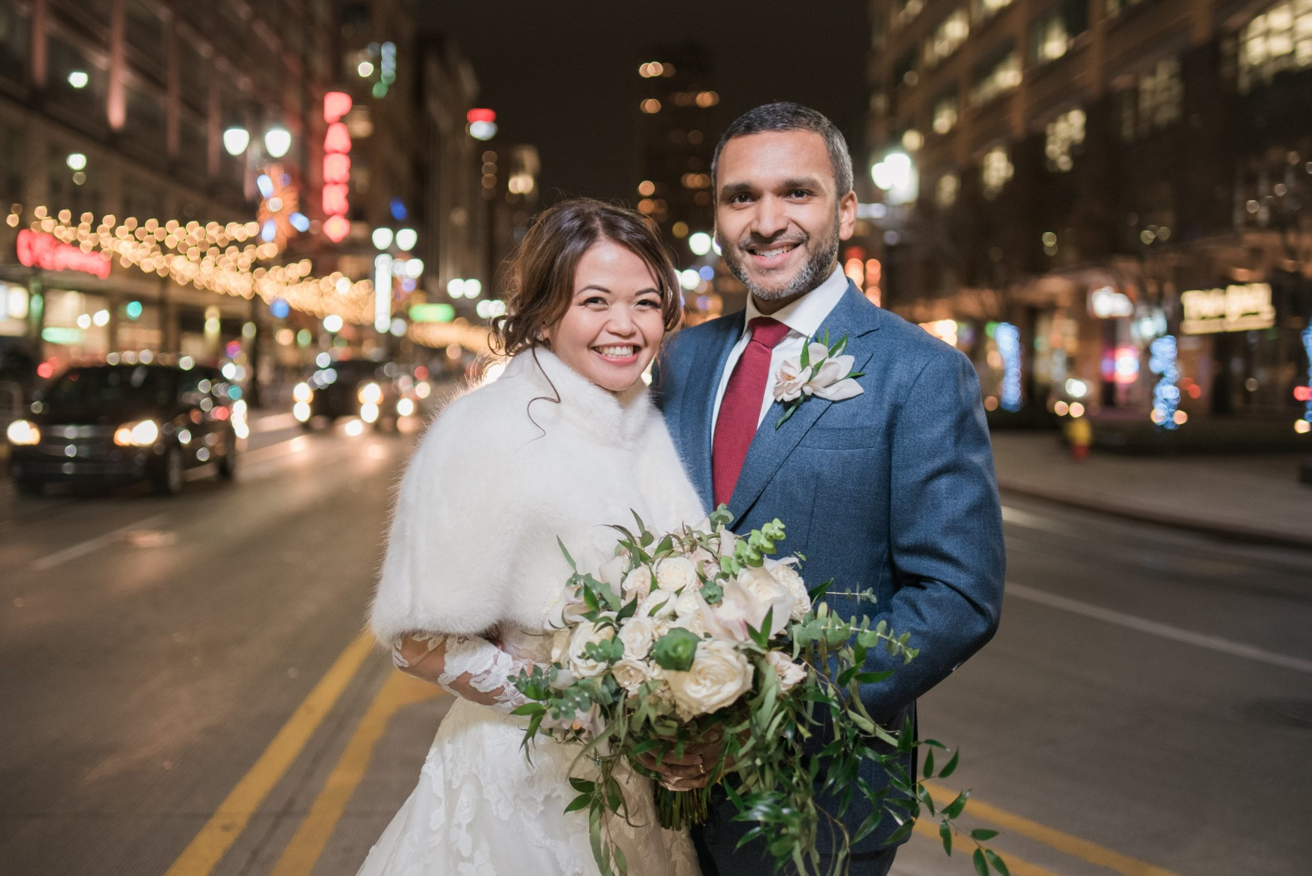 bride-and-groom-in-downtown-Detroit