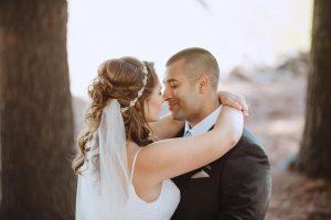 bride and groom sentimental moment