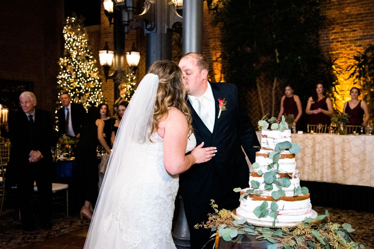 carrie and matthew cake cutting