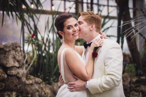 daniel kissing anna on cheek