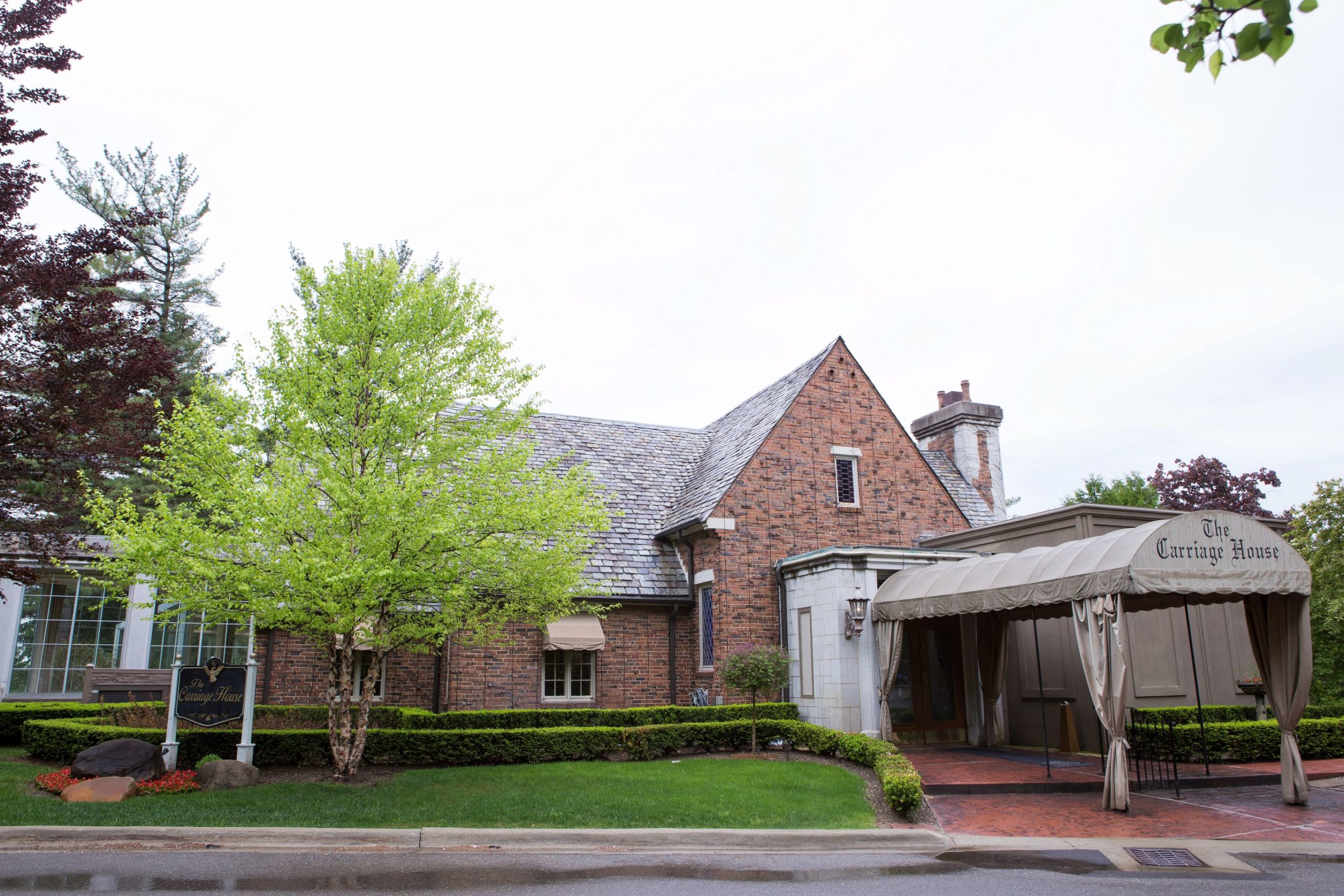 exterior of carriage house