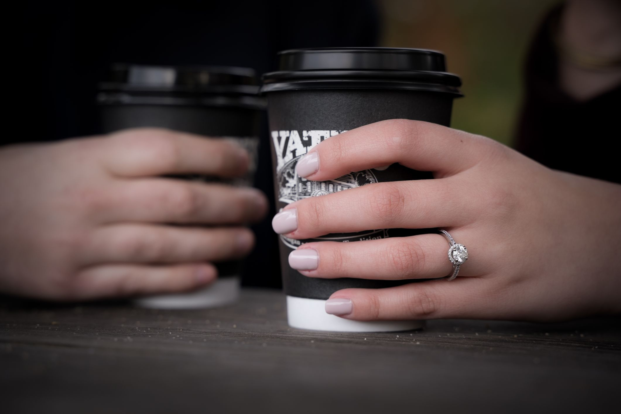 fall engagement session at Yate's Cider Mill